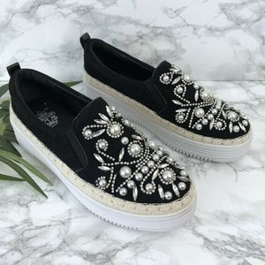 NEW French Blu Embellished Sneaker Sz 7